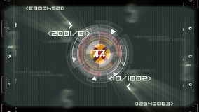 Loading sequence and random numbers stock footage