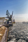 Loading a ship Stock Photography