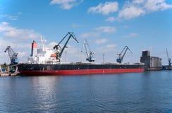 Loading the ship Stock Photo