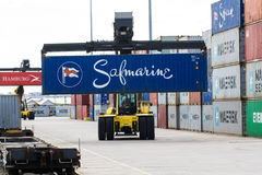 Loading Shipping Containers Stock Photos