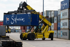 Loading Shipping Containers Royalty Free Stock Image