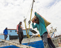 Loading Ships in Sunda Kelapa Stock Images