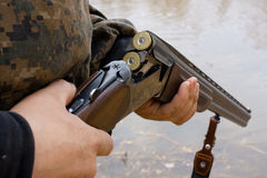Loading sporting gun Stock Photo