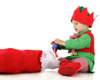 Loading the Stocking Royalty Free Stock Photography