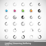 Loading, Streaming, Buffering, Play, Go royalty free illustration