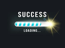 Loading.. SUCCESS. Abstract concept for loading.. SUCCESS Royalty Free Stock Images