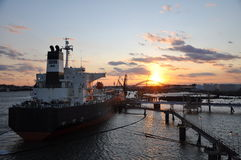 Loading of tanker Royalty Free Stock Images