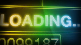 Loading text stock video footage