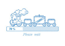 Loading train Royalty Free Stock Images