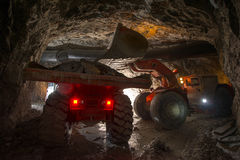 Loading truck with gold ore Stock Image