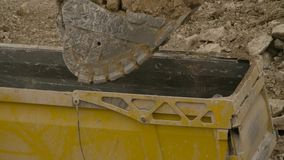 Loading of the truck in a quarry stock footage