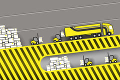 Loading a truck in stock Royalty Free Stock Photo