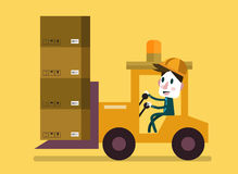 Loading and unloading machine. Industry cargo equipment. Royalty Free Stock Images