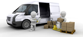 Loading a van Stock Images