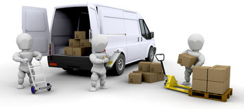 Loading van Royalty Free Stock Photo