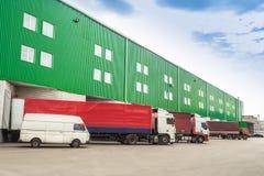 Loading vehicles, warehouses Stock Photo