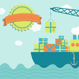 Loading the vessel Royalty Free Stock Images
