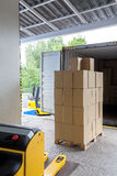 Loading in a warehouse Royalty Free Stock Photo