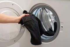 Loading washer Stock Photo