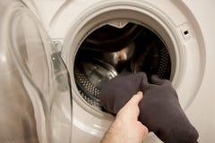 Loading washing machine Stock Photos