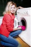 Loading the washing machine Stock Photo