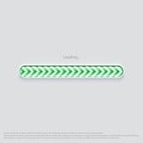 Loading web design green. Design element  illustration Royalty Free Stock Image