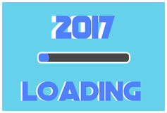Loading 2017 year background. Vector illustration new year Royalty Free Stock Image