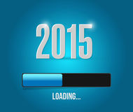 2015 loading year bar illustration design. Over a blue background vector illustration