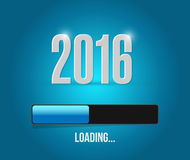2016 loading year bar illustration design. Over a blue background Stock Image