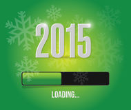 2015 loading year bar illustration. Design over a green background stock illustration