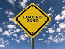 Loading zone sign Royalty Free Stock Image