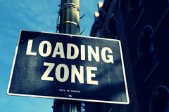 LOADING ZONE Sign Royalty Free Stock Photos