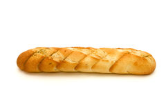 Loaf. Long loaf. French bread on a white background Stock Photos