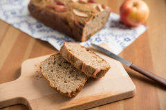 Loaf of apple nut bread Stock Image
