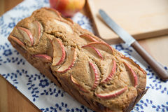Loaf of apple nut bread Royalty Free Stock Photography