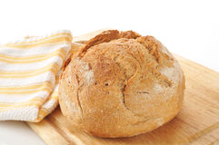Loaf of artisan whole wheat bread Stock Photos