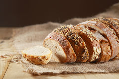Loaf of assorted crusty fresh bread Stock Photo