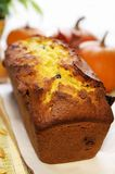Loaf of autumn pumpkin bread stock image