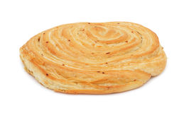 Loaf of baked hand-made bread, isolated Royalty Free Stock Photography