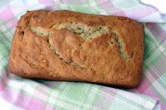 Loaf of Banana Bread Stock Photos