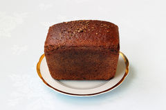 Loaf of black bread Royalty Free Stock Images