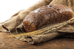 A loaf of black bread Stock Image