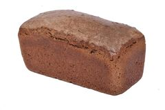 Black bread on a white background royalty free stock photos