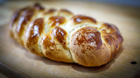 Loaf of braided bread Royalty Free Stock Photos