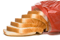 Loaf of Bread. A loaf of white bread in a bag Royalty Free Stock Images