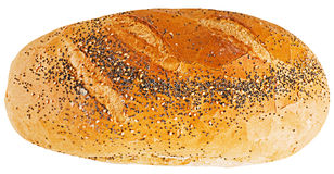 Loaf of bread. On white background Stock Photo