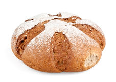 Loaf of bread. On white background royalty free stock photo