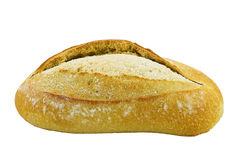 Loaf of Bread. Isolated over white background Stock Images