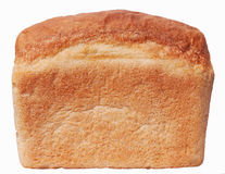 Loaf of bread. On white isolated Royalty Free Stock Images