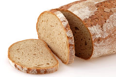 Loaf of bread. Loaf of a German bread in front of a white background Royalty Free Stock Photos